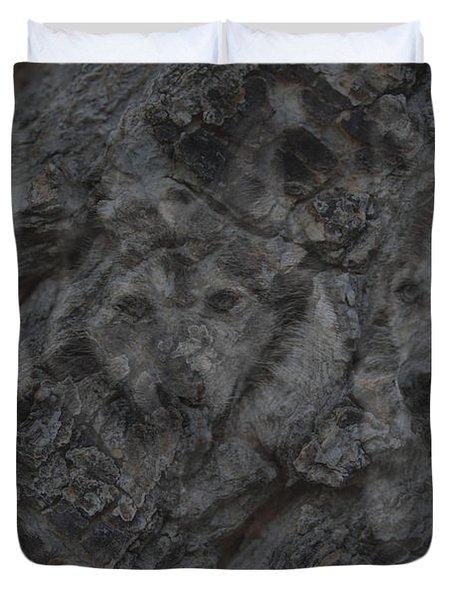 Wolf Shadows Duvet Cover by Ernie Echols