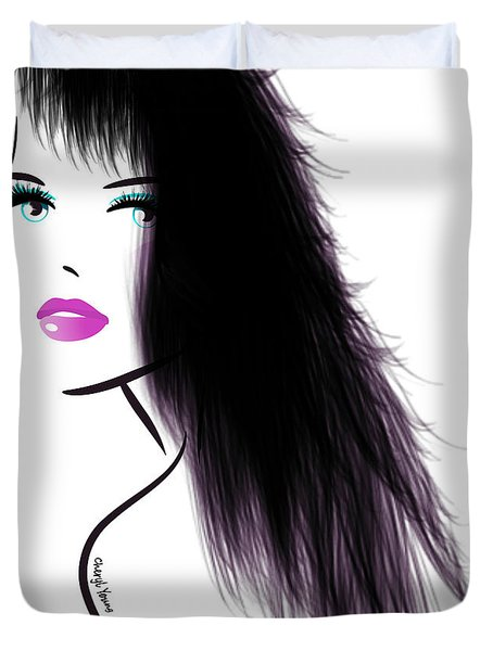 Woman 5 Duvet Cover by Cheryl Young