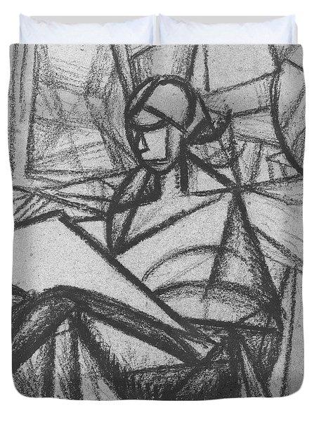 Woman Duvet Cover by Alexander Bogomazov