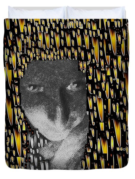 Woman In Flames Duvet Cover by Pepita Selles