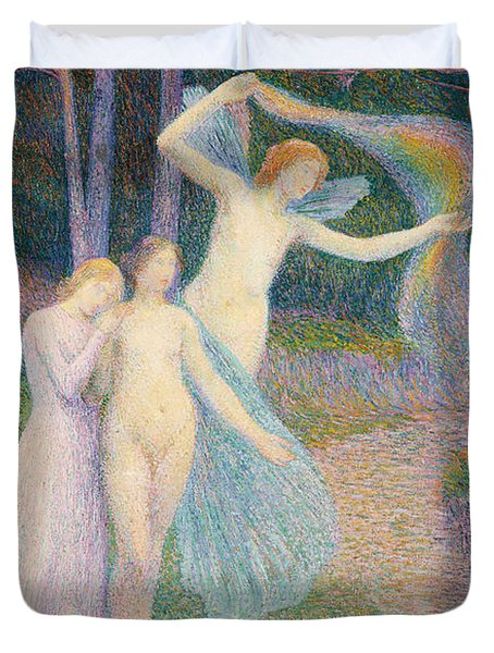 Women Amongst The Trees Duvet Cover by Hippolyte Petitjean