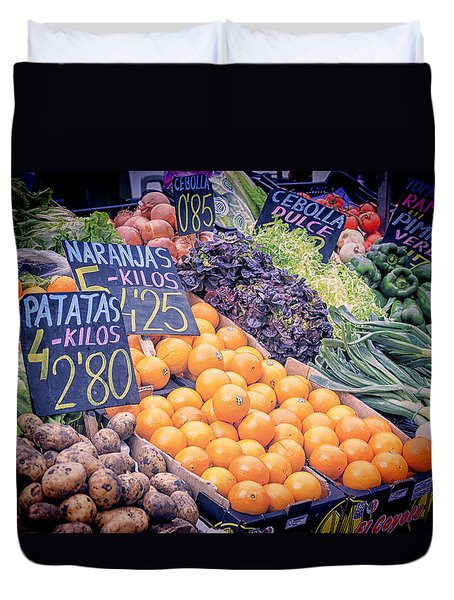 Wonderful In Any Language Duvet Cover by Joan Carroll