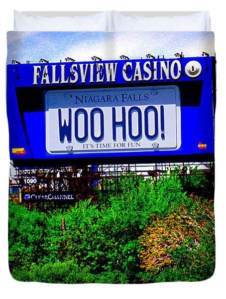 Woo Hoo Duvet Cover by Nina Silver