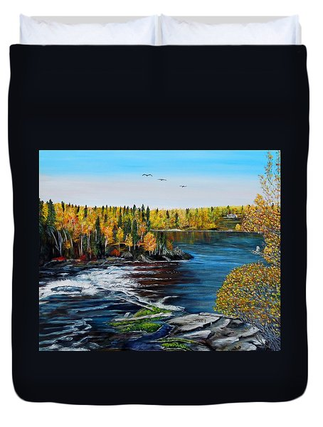 Wood Falls  Duvet Cover by Marilyn  McNish