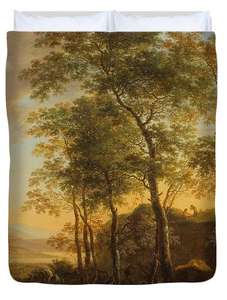 Wooded Hillside With A Vista Duvet Cover by Jan Both