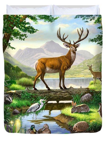 Woodland Harmony Duvet Cover by Chris Heitt