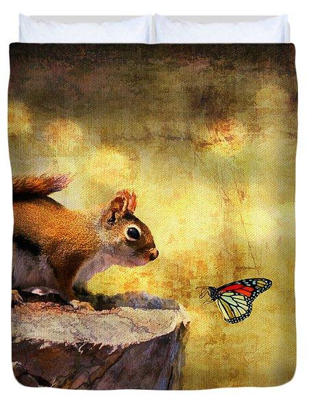 Woodland Wonder Duvet Cover by Lois Bryan