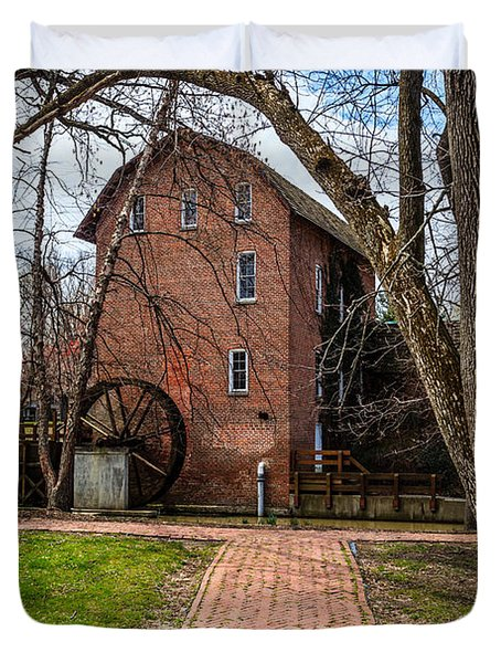 Wood's Grist Mill in Hobart Indiana Duvet Cover by Paul Velgos