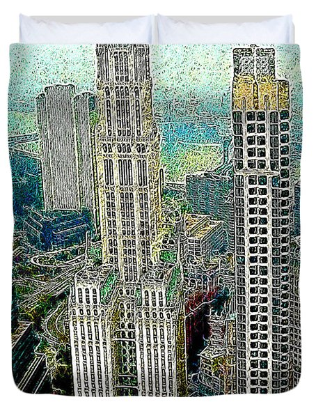 Woolworth Building New York City 20130427 Duvet Cover by Wingsdomain Art and Photography