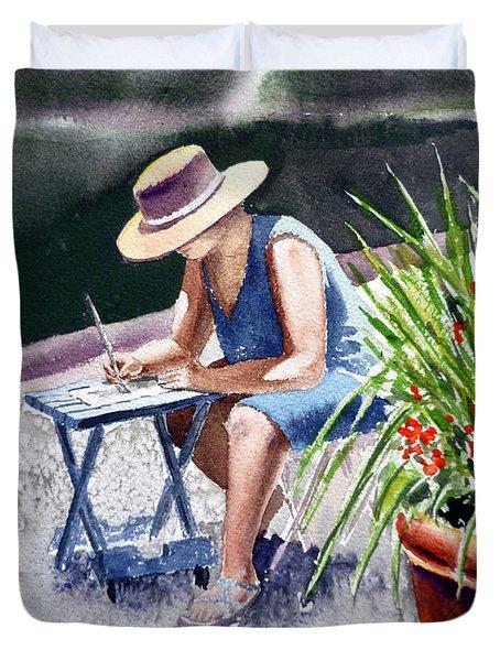 Working Artist Duvet Cover by Irina Sztukowski