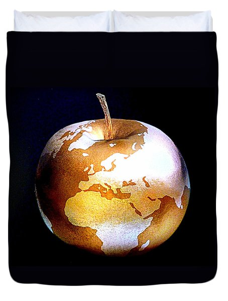 World Apple Duvet Cover by The Creative Minds Art and Photography