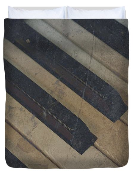 Worn Out Keys Duvet Cover by Photographic Arts And Design Studio