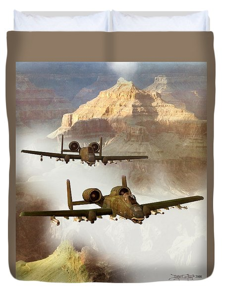 Wrath Of The Warthog Duvet Cover by Dieter Carlton