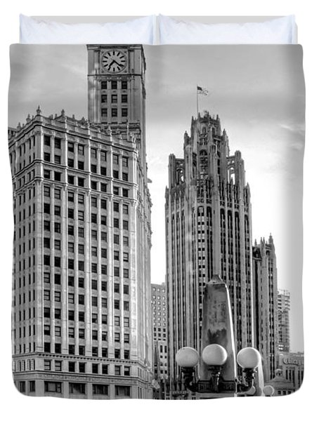 Wrigley And Tribune Duvet Cover by Scott Norris