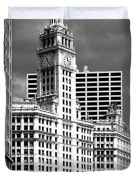 Wrigley Building Chicago Illinois Duvet Cover by Christine Till