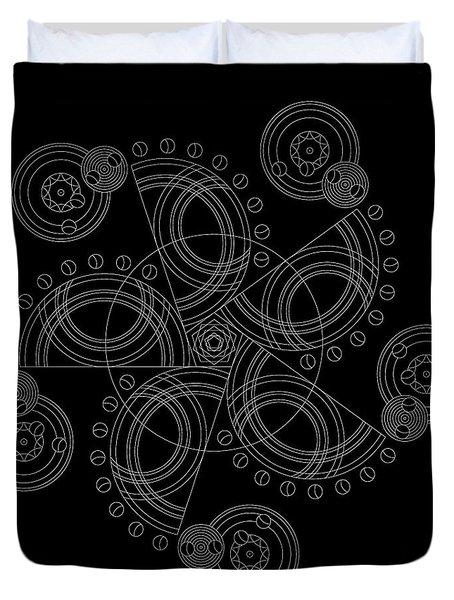X To The Sixth Power Inverse Duvet Cover by DB Artist