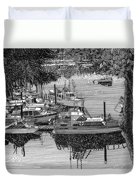Port Orchard Yacht Club Cruise To Vashon Island Duvet Cover by Jack Pumphrey