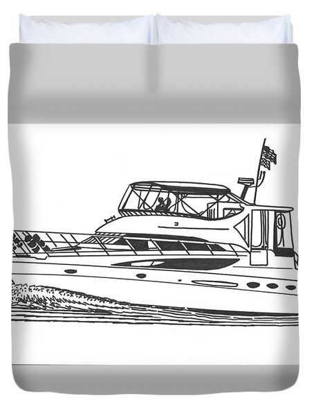 Yachting Good Times Duvet Cover by Jack Pumphrey