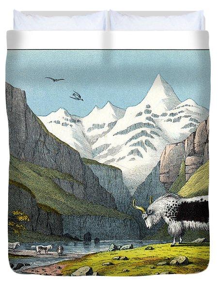 Yak Duvet Cover by Splendid Art Prints