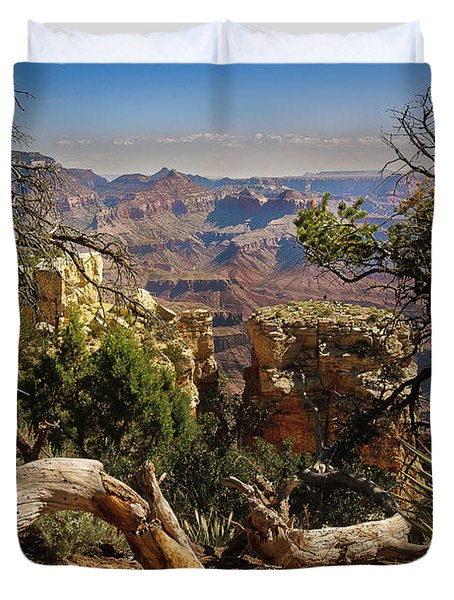 Yaki Point 4 The Grand Canyon Duvet Cover by Bob and Nadine Johnston
