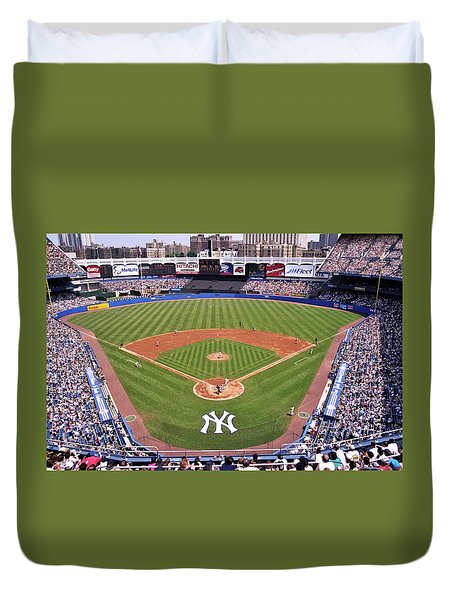 Yankee Stadium Duvet Cover by Allen Beatty