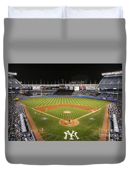Yankee Stadium Duvet Cover by Chuck Spang
