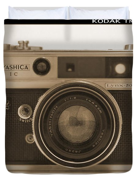Yashica Lynx 5000E 35mm Camera Duvet Cover by Mike McGlothlen