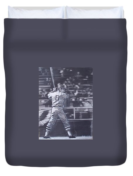 Yaz - Carl Yastrzemski Duvet Cover by Sean Connolly