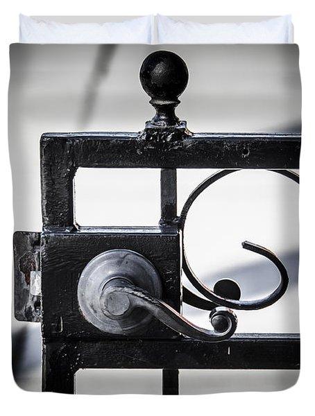Ybor City Gate Duvet Cover by Carolyn Marshall