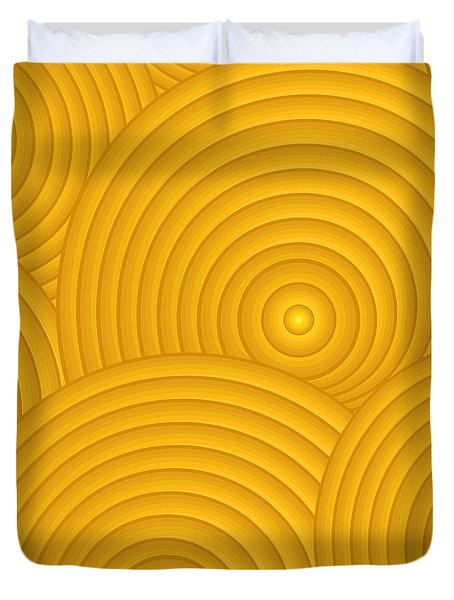 Yellow Abstract Duvet Cover by Frank Tschakert
