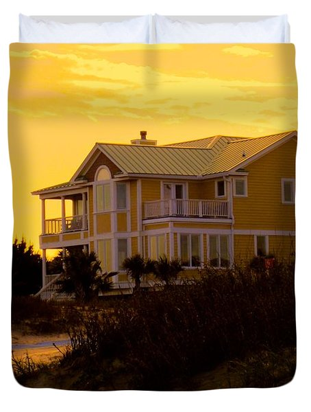 Yellow Beauty At Isle Of Palms Duvet Cover by Kendall Kessler