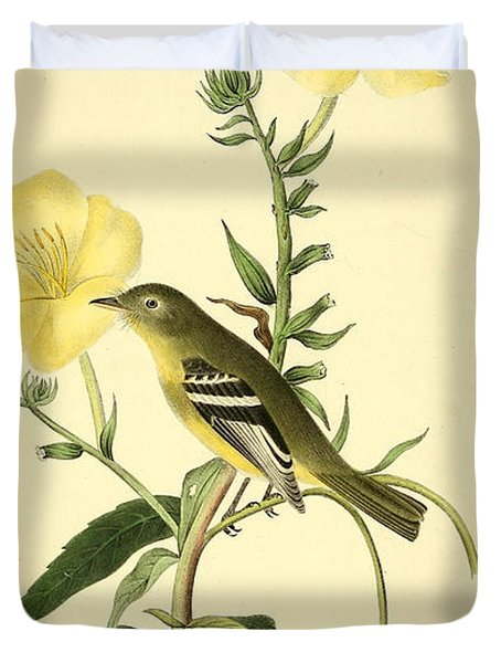 Yellow-bellied Flycatcher Duvet Cover by Philip Ralley
