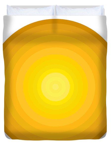 Yellow Circles Duvet Cover by Frank Tschakert
