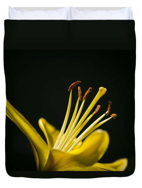 Yellow Lily Duvet Cover by Christina Rollo