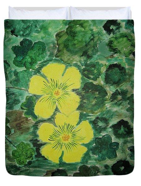 Yellow Magic  Duvet Cover by Sonali Gangane