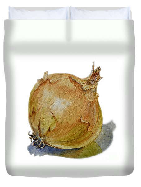 Yellow Onion Duvet Cover by Irina Sztukowski