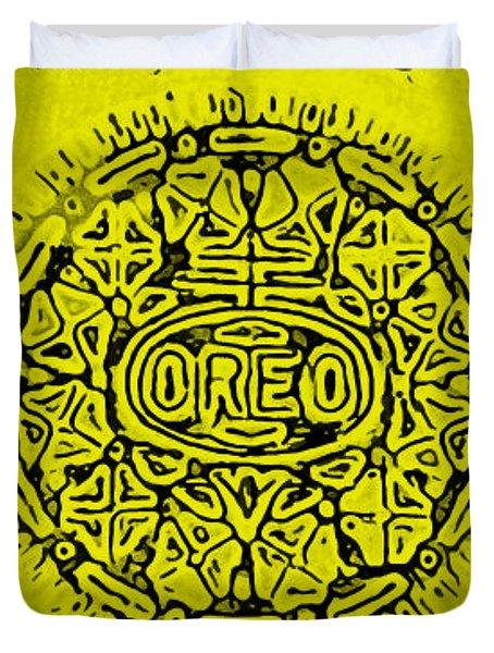 YELLOW OREO Duvet Cover by ROB HANS