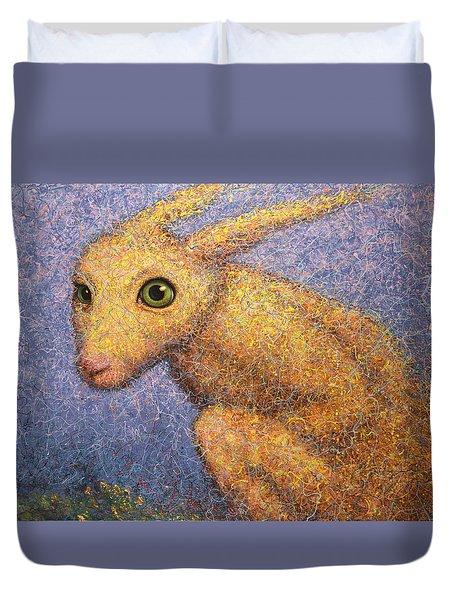 Yellow Rabbit Duvet Cover by James W Johnson