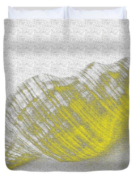 Yellow Seashell Duvet Cover by Carol Lynch