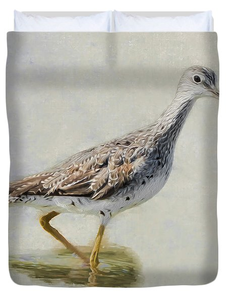 Yellowlegs Square Duvet Cover by Bill Wakeley
