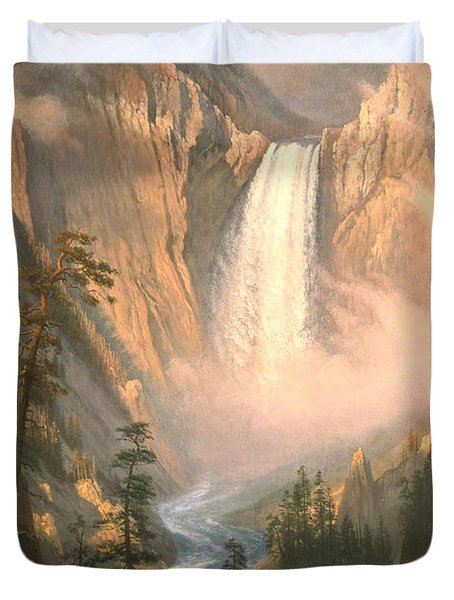 Yellowstone Duvet Cover by Albert Bierstadt