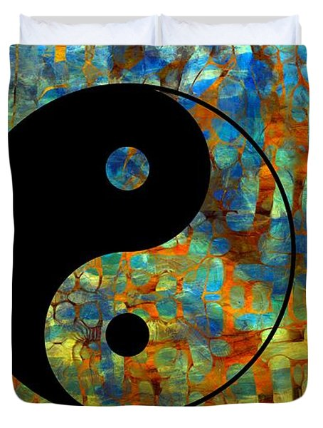 Yin Yang Abstract Duvet Cover by Dan Sproul