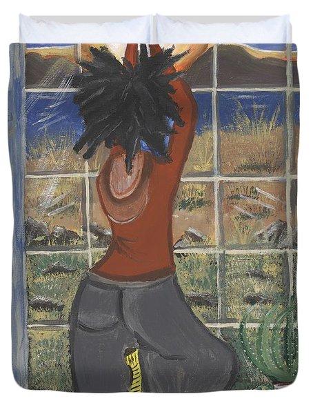 Yoga Duvet Cover by Reba Baptist