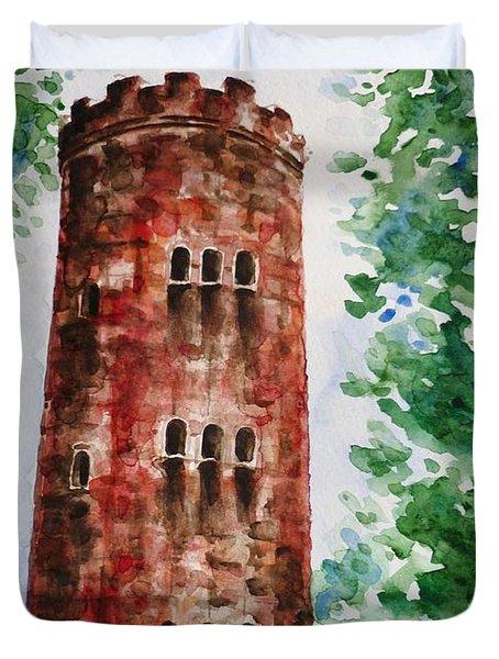 Yokahu Tower  Duvet Cover by Zaira Dzhaubaeva
