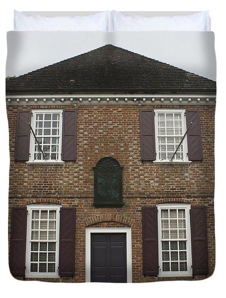 Yorktown Customs House Duvet Cover by Teresa Mucha