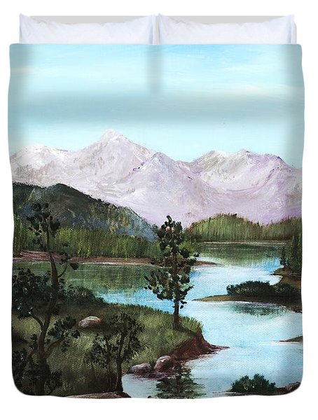 Yosemite Meadow Duvet Cover by Anastasiya Malakhova
