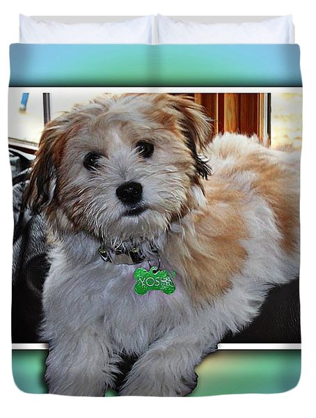 YOSHI Havanese Puppy Duvet Cover by Barbara Griffin