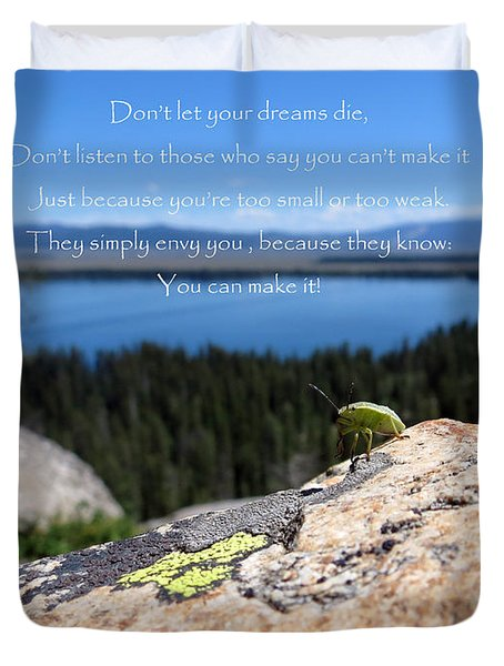 You Can Make It. Inspiration point Duvet Cover by Ausra Paulauskaite