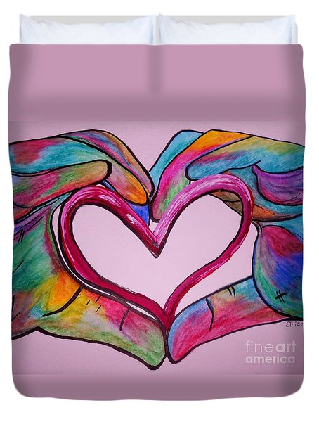 You Hold My Heart in Your Hands Duvet Cover by Eloise Schneider