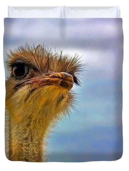 You Talkin To Me Duvet Cover by Gary Holmes